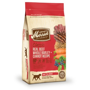 Merrick Classic ADULT Real Beef, Whole Barley and Carrots 15#
