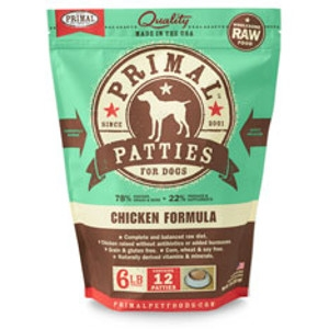 Primal Canine Chicken Patties 6Lb