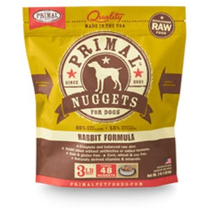 Primal Canine Rabbit Nuggets 3Lb