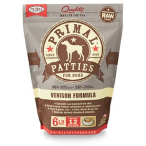 Primal Canine Venison Patties 6Lb