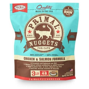 Primal Feline Chicken/Salmon Nuggets 3Lb