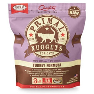 Primal Feline Turkey Nuggets 3Lb