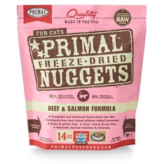 Primal Feline Beef-Salmon Freeze Dried Formula 14oz