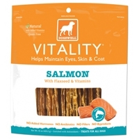 Dogswell 15oz VITALITY® Salmon Jerky with Whitefish, Flaxseed & Vitamins