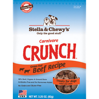 Stella & Chewy's Carnivore Crunch Freeze Dried Beef Treats 4 oz.