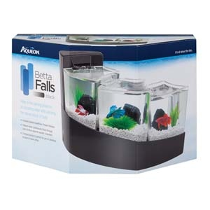 Betta Falls Aquarium Kit- Black