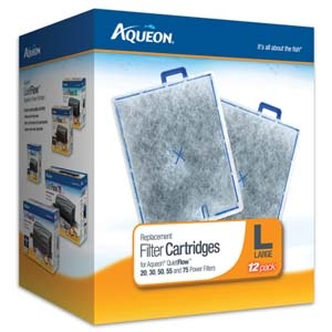 Aqueon Filter Cartridge Large- 12Pack