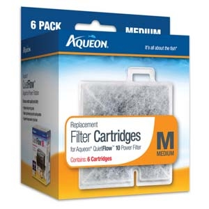 Aqueon Filter Cartridge Medium- 6Pack