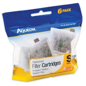 Aqueon Filter Cartridge Small- 6Pack