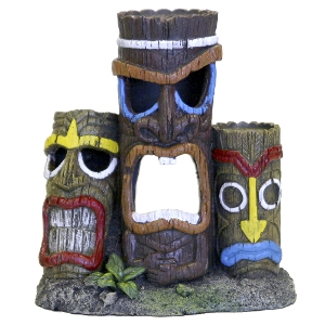 Exotic Environments® 3 Piece Tiki Head Statue