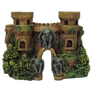 Exotic Environments® Cobblestone Castle Walls W / Gargoyles