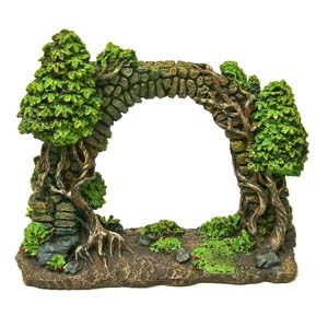 Exotic Environments® Forgotten Ruins Cobblestone Arch Wall w/Trees