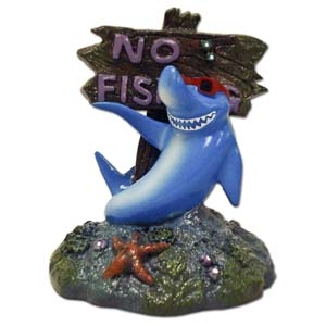Exotic Environments® Small Wonders Cool Shark With No Fishing Sign