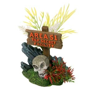 Exotic Environments® Area 51 Sign with Skull
