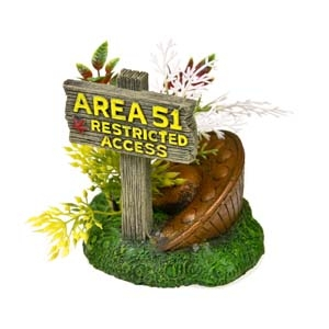Exotic Environments® Area 51 Sign with UFO