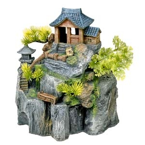 Exotic Environments® Asian Cottage House w/ Bonsai
