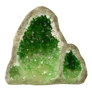 Exotic Environments® Green Glow In The Dark Geode Stone Tall