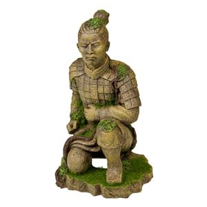 Exotic Environments® Qing Dynasty Terracotta Statue with Moss