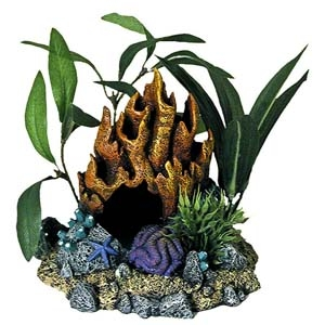 Exotic Environments® Fire Coral Cave With Plants