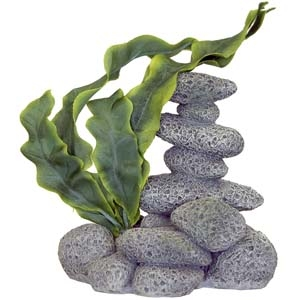 Exotic Environments® Spa Stones w/Plant B – Textured Gray