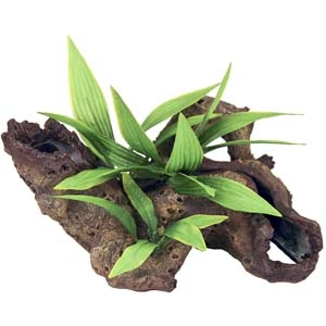 Exotic Environments® Mopani Wood w/ Silk Style Plants – Large