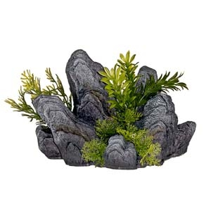 Exotic Environments® Rock Out Cropping with Green Plants
