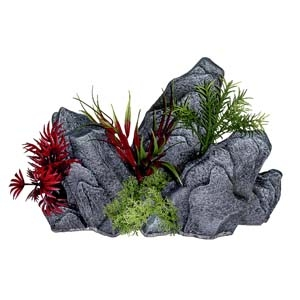 Exotic Environments® Rock Out Cropping with Plants