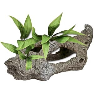 Exotic Environments® Rock Tunnels w/ Silk Style Plants-B