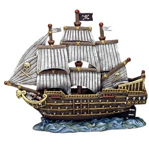 Exotic Environments® Skull & Crossbones War Ship