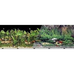 Vibran-Sea® Double Sided Background 19in – Freshwater Black/Tropical Freshwater
