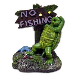 Exotic Environments® Small Wonders Turtle With No Fishing Sign