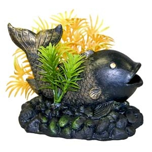 Exotic Environments® Zen Fish with Plant