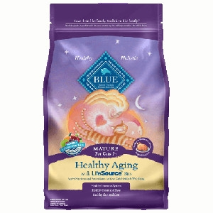 BLUE™ Healthy Aging Chicken & Brown Rice For Mature Cats- 7lbs