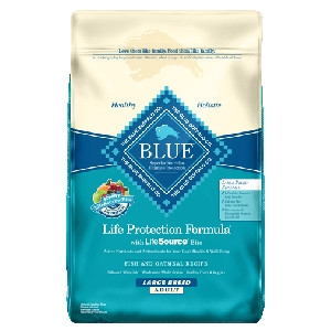 Blue Buffalo Large Breed Fish/Oatmeal Dog 30#