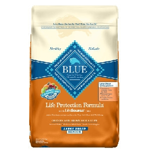 Blue Buffalo Large Breed Senior Chicken/Brown Rice Dog 30#