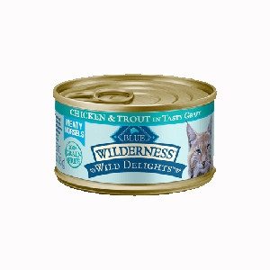 Blue Buffalo Wilderness Delights Chicken/Trout Cat 24/3OZ