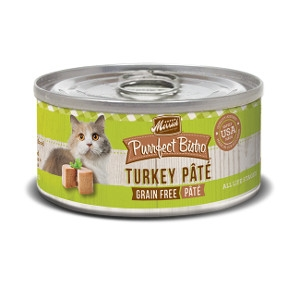 Merrick Purrfect Bistro Grain Free Turkey Pate for Cats