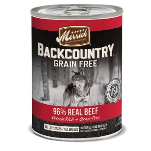 Merrick Backcountry 96% Real Beef for Dogs- 12.7oz