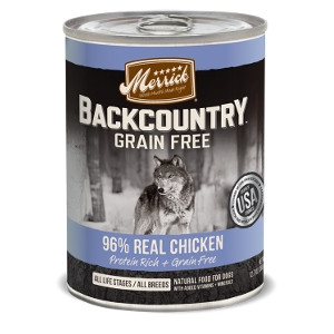 Merrick Backcountry 96% Real Chicken for Dogs- 12.7oz