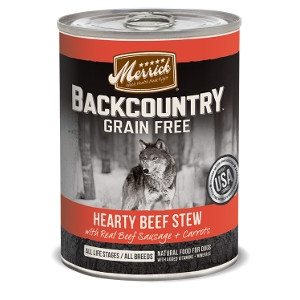 Merrick Backcountry Hearty Beef Stew for Dogs- 12.7oz