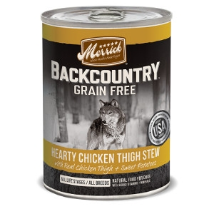 Merrick Backcountry Hearty Chicken Thigh Stew for Dogs- 12.7oz
