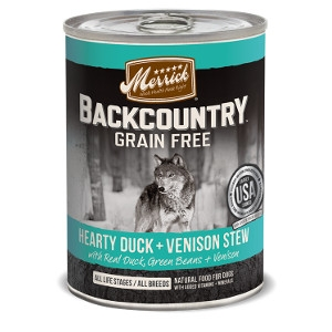 Merrick Backcountry Duck + Venison Stew for Dogs- 12.7oz
