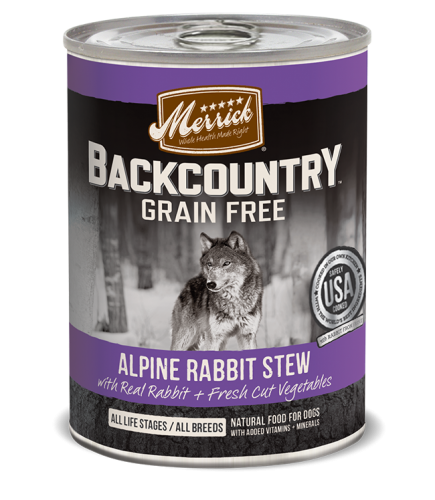 Merrick Backcountry Alpine Rabbit Stew for Dogs- 12.7oz