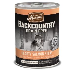 Merrick Backcountry Hearty Salmon Stew for Dogs- 12.7oz