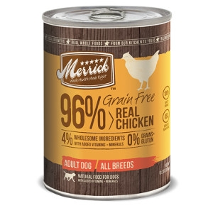 Merrick Grain Free 96% Real Chicken for Dogs- 13.2oz