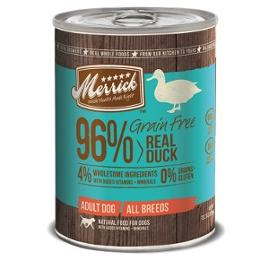 Merrick Grain Free 96% Real Duck for Dogs- 13.2oz