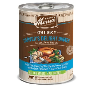Merrick Chunky Carver's Delight Dinner Grain Free Recipe for Dogs- 12.7oz