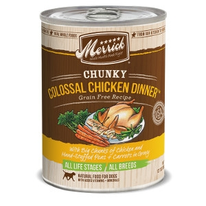 Merrick Chunky Colossal Chicken Dinner Grain Free Recipe- 12.7oz