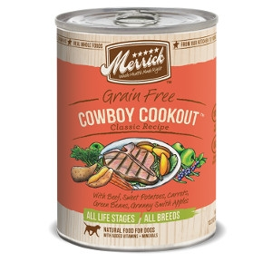 Merrick Grain Free Cowboy Cookout Classic Recipe for Dogs- 13.2oz