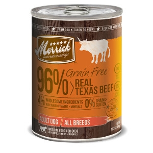 Merrick Grain Free 96% Real Texas Beef for Dogs- 13.2oz